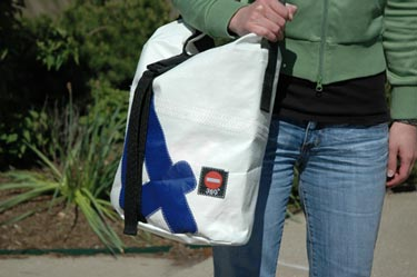 The 360 Degree Tender Bag is made from recycled sails