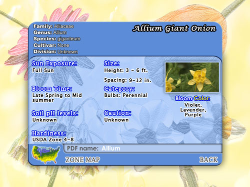 Ambient Flowers: Spring includes detailed flower info