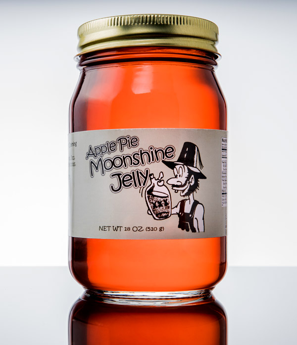 Moonshine flavored jelly