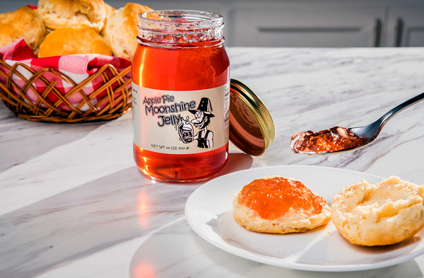 Jelly made with real moonshine