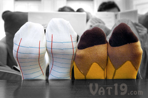 Stylish Notebook and Pencil Socks from Ashi Dashi