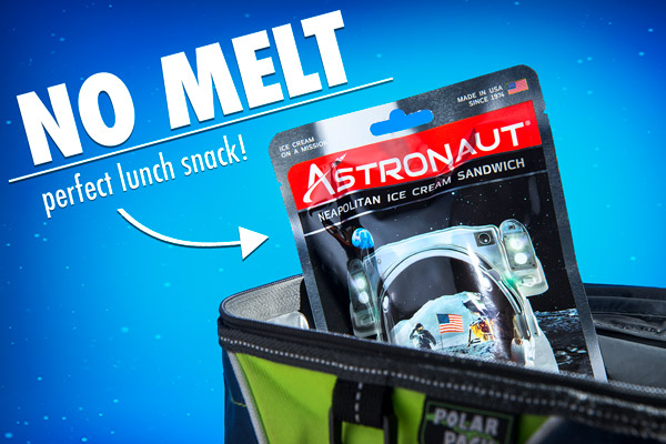 Astronaut Ice Cream can be enjoyed at room temperature without any fear of melting.