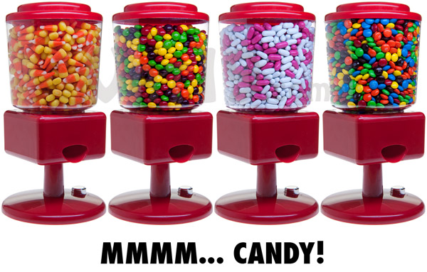 The Automatic Candy Dispenser is compatible with many different types of small candies.