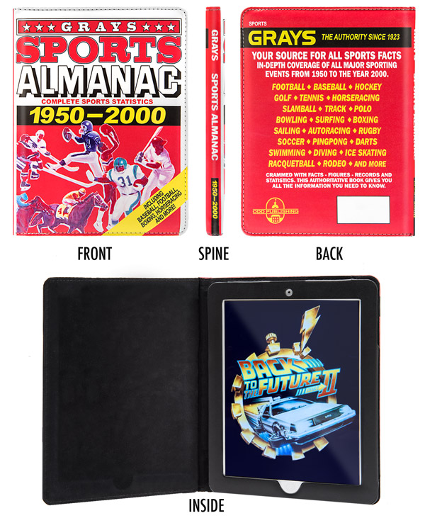 Multiple views of the Back to the Future II iPad Case.