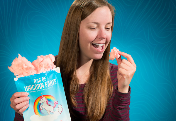 Delicious bag of unicorn farts