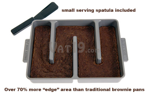 Bakers Edge Brownie Pan includes a spatula
