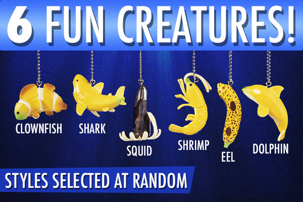 Available styles: eel, shrimp, shark, clownfish, whale, and squid. Your style will be chosen at random.