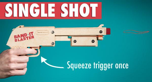 Rubber Band Shotgun in single fire mode.
