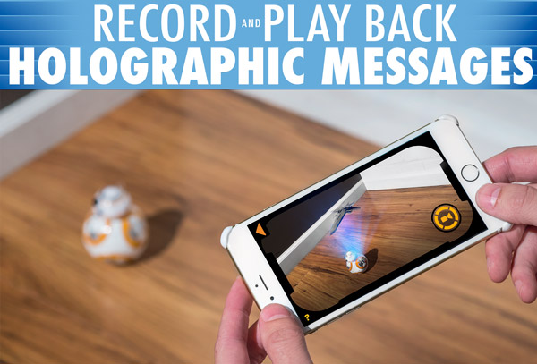 Record and view holographic messages