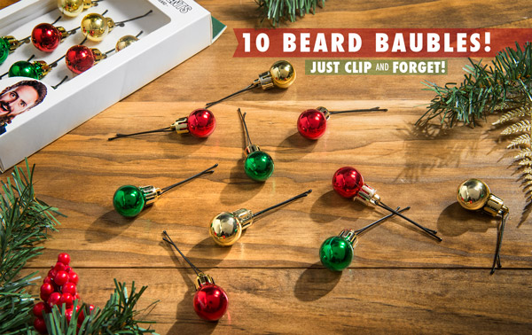 Included bobby pins make tree beards a snap.
