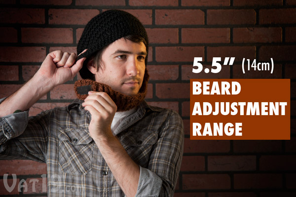 The Beardo Beard Hat will fit any adult face thanks to its 5.5 inch adjustment range.