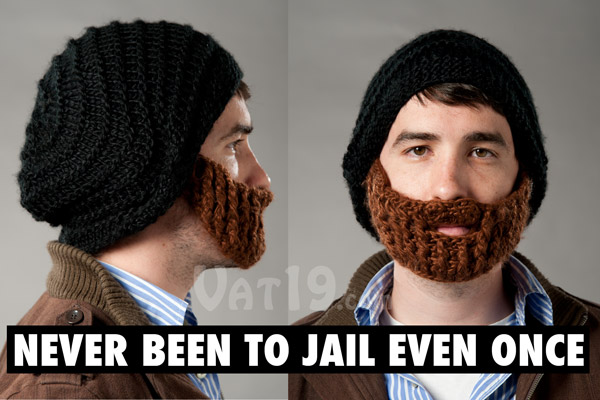 63dde3d6192 The Beardo Beard Hat from multiple views.