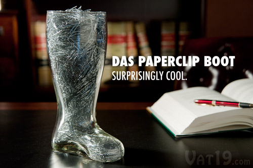 Hold office supplies such as paperclips in your Beer Boot.