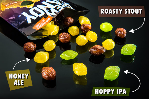 Hoppy IPA, Honey Ale, Roasty Stout