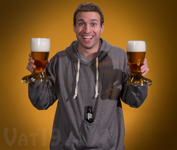 The Beer Pouch Hoodie is the ultimate beer holder sweatshirt.