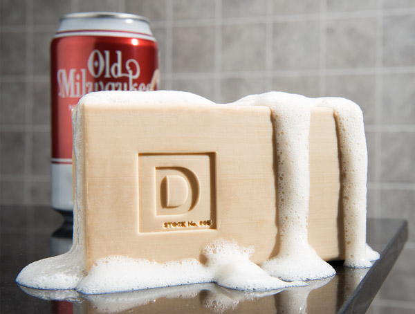 Refreshing beer soap
