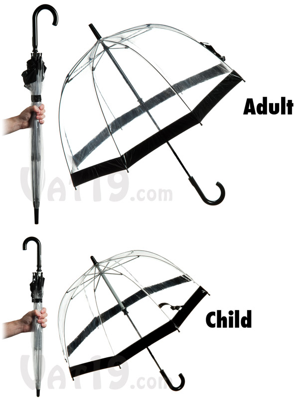 The Birdcage Umbrella is available in two sizes.  sc 1 st  Vat19.com & Birdcage Umbrellas: Transparent domed canopy umbrella
