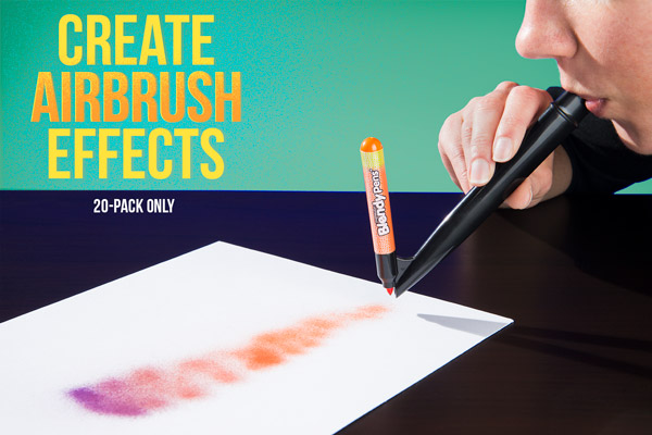 Create airbrush effects (20 pack only)