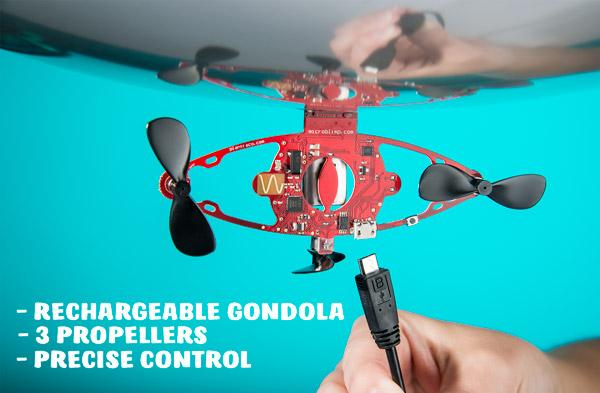 3 propellers precise control