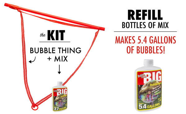 Purchase the Bubble Thing Kit and Refills at Vat19.com.
