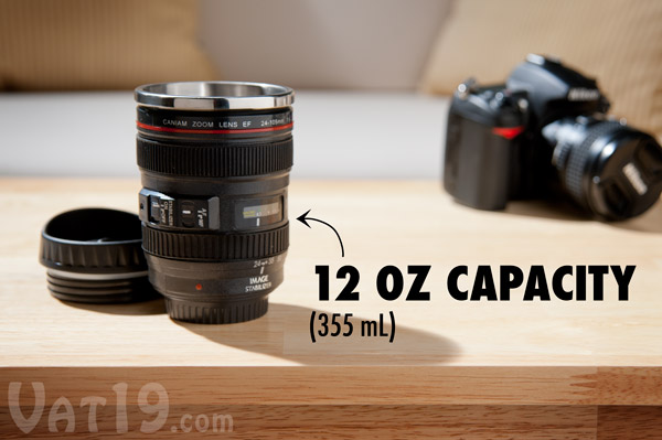 Camera Lens Mug Ounce Stainless Steel Coffee Mug Looks Like A - Nikon coffee cup lens