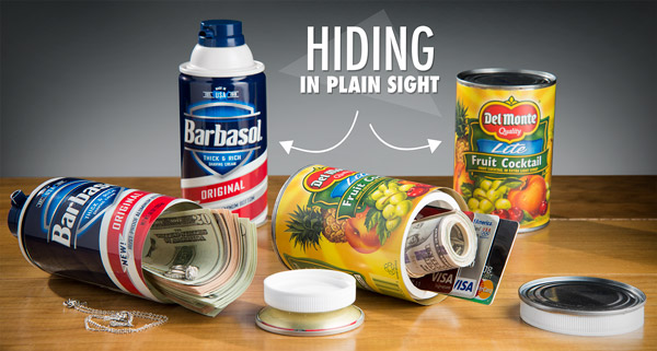Can Safes are a clever way to hide valuables in plain sight.