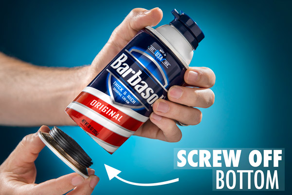 Unscrew the bottom of your Can Safe to access its contents.