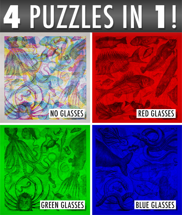 One puzzle, 4 different views!