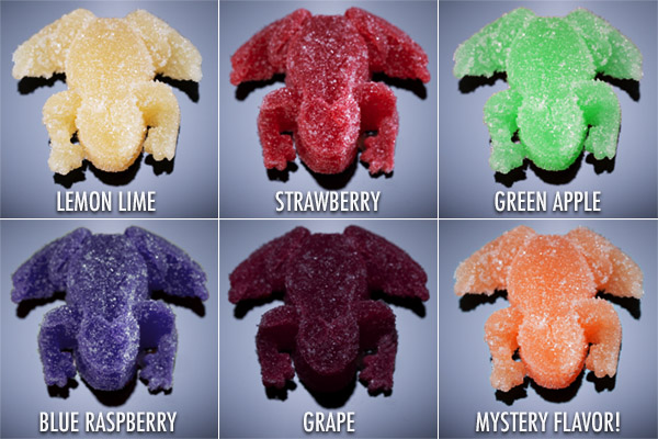 6 different flavors of frog