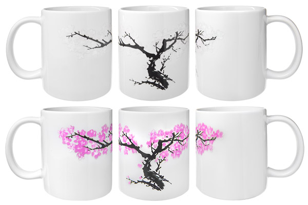 Multiple views of the Blossom Morph Mug.
