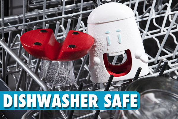 Run the Cherry Chomper through your dishwasher to get it clean for the next chompin'!