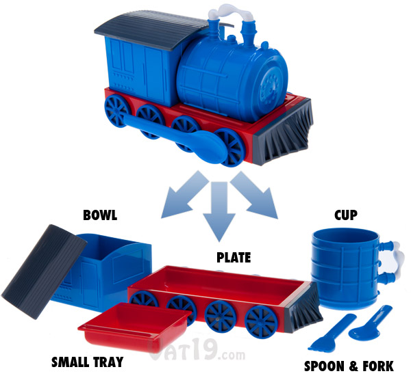 Chew-Chew Train includes seven pieces.
