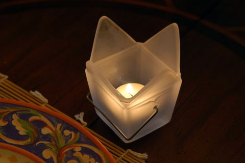 Chinese Take-out Votive Holder in your home.