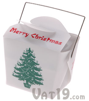 Chinese Takeout Music Boxes Miniature Animated Christmas Scene