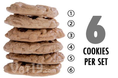 Each order of Chocolate Chip Cookie Candle Melts includes six cookies.
