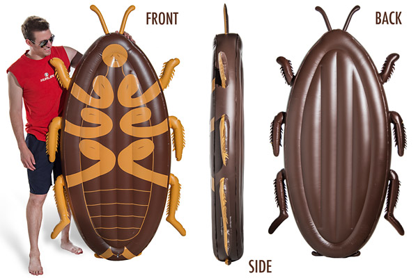 Multiple views of the Cockroach Pool Float.