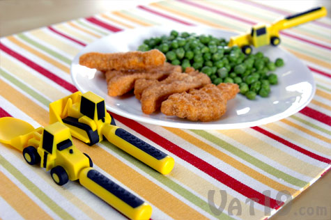Constructive Eating Utensils for kids make dinner a blast!
