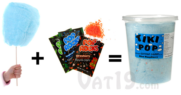 Delicious spun sugar plus rocking pop rocks equals Poppin' Cotton Candy.