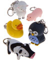Farm Animal LED Keychains