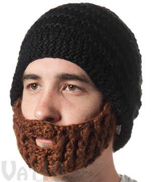ea2ca819360 The Original Beard Hat - Black   Brown