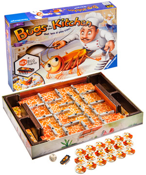 Bugs in the Kitchen Game: Fast-paced family board game with a bug ...