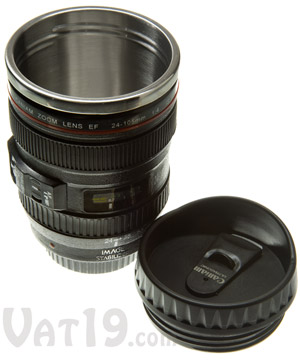 Camera Lens Mug 12 Ounce Stainless Steel Coffee Mug Looks