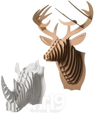 Cardboard safari animals diy wall trophy made from recycled cardboard cardboard safari animals maxwellsz