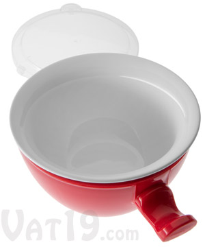 Cool Touch Microwave Bowl Red