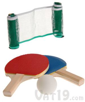 Desktop Ping Pong Set: Everything you need for office ping pong