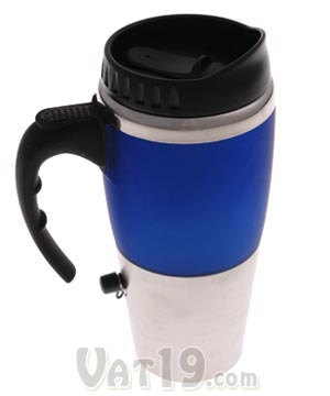 16 Oz Dual Auto Usb Heated Travel Coffee Mug