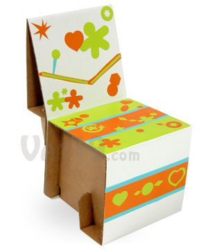 Children Can Decorate And Assemble Their Very Own Cardboard Chair