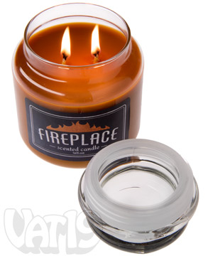 Fireplace Scented Jar Candle: Create the ultimate fireplace ambience.
