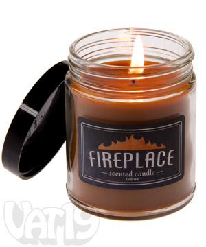 Fireplace Scented Jar Candle