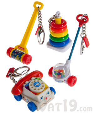 Fisher Price Toy Keychains Miniature Chatter Phone Corn
